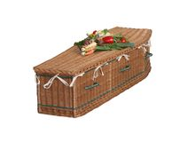 Wicker Coffin. Stock Image