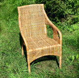 Wicker comfortable chair Royalty Free Stock Photos