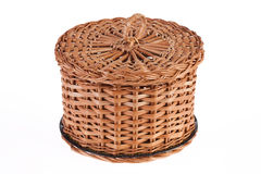 Wicker Container Royalty Free Stock Image