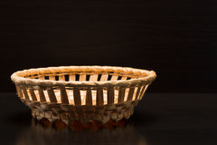 Wicker containers Stock Image