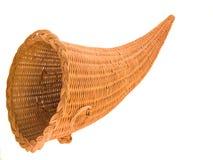 Wicker Cornucopia Basket. Wicker Basket in the shape of the Horn Of Plenty, or Cornucopia Royalty Free Stock Images
