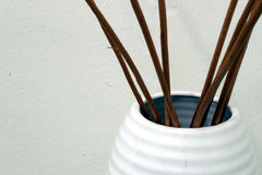 Wicker decoration. Wicker inside a jar in a interiors image Stock Photo