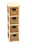Wicker drawers Stock Photo