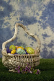 Wicker Easter basket  Stock Photography