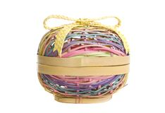 Wicker Easter Basket Stock Images