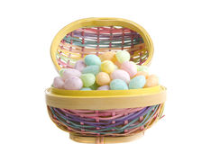 Wicker Easter Basket Royalty Free Stock Photography