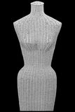 Wicker female mannequin front torso isolated Stock Photos