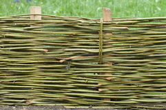 Wicker Fence Stock Photo
