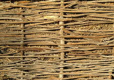 Wicker fence. Rural texture. The wicker fence Stock Photo