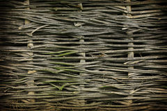 Wicker fence background Royalty Free Stock Photography