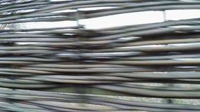 Wicker fence stock footage
