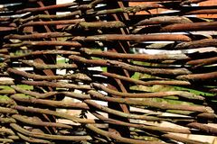 Wicker Fence, XXXL Royalty Free Stock Image