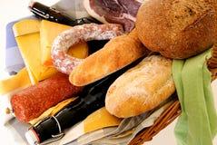 Wicker Food basket Stock Photos