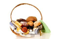 Wicker Food basket Royalty Free Stock Images