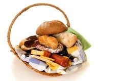 Wicker Food basket Stock Photo