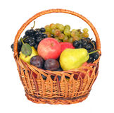 Wicker with fruits Stock Photo