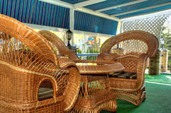Wicker furniture Royalty Free Stock Image