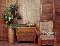 Wicker furniture Stock Photography