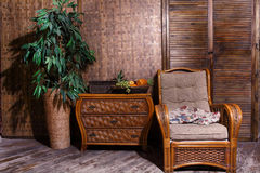 Wicker furniture Royalty Free Stock Photo