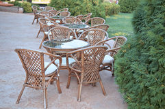 Wicker furniture Stock Photos