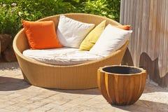 Wicker Garden Furniture stock photos