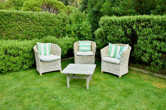 Wicker Garden Furniture Royalty Free Stock Photo