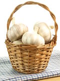 Wicker with garlic Stock Photos