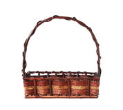 Wicker gift basket Stock Images