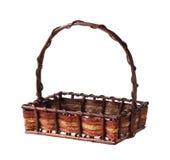 Wicker gift basket Stock Image