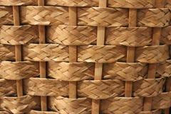 Wicker golden straw texture Stock Image