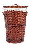 Wicker hamper Stock Photography