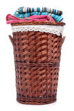 Wicker hamper Royalty Free Stock Photo