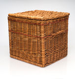 Wicker Hamper Basket On White Background Royalty Free Stock Images