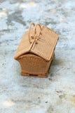 Wicker handbag Stock Images