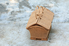 Wicker handbag Royalty Free Stock Image