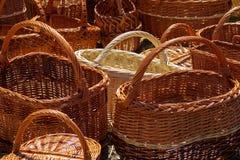 Wicker handmade carpets. royalty free stock photo