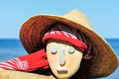 Wicker hat and bandana Royalty Free Stock Photos