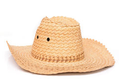 Wicker hat isolated Stock Photo