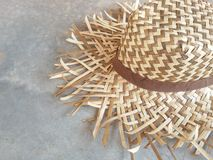 Wicker hat summer fashion Stock Photography