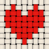 Wicker with heart. Royalty Free Stock Photo