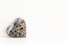 Wicker heart Stock Image