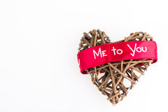 Wicker heart. Me to you stock photography