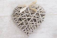 Wicker heart Royalty Free Stock Photos