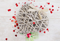 Wicker heart Royalty Free Stock Image
