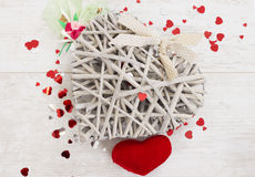 Wicker heart Stock Photos