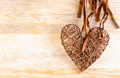 Wicker heart Royalty Free Stock Photo