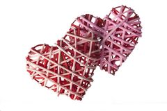 Wicker Hearts Royalty Free Stock Image
