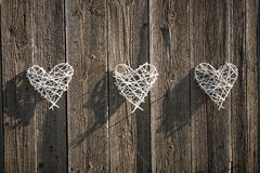 Wicker hearts Stock Image