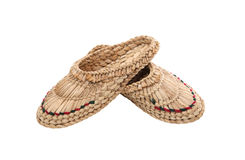 Wicker Home Shoes Stock Images