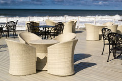 Wicker and Iron Chairs Stock Images